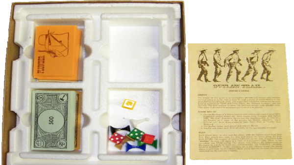 OOP40000 Out of Print Boardgame Outlaw Trail Inside the Box