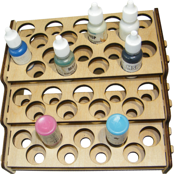 Real Wood Paint Rack Reaper Size Holes