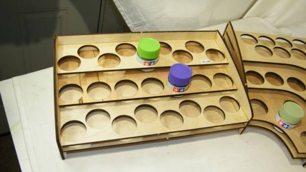 Real Wood Paint Racks - Gunpla Paints