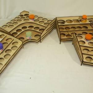 Real Wood Paint Racks - Gunpla Paints